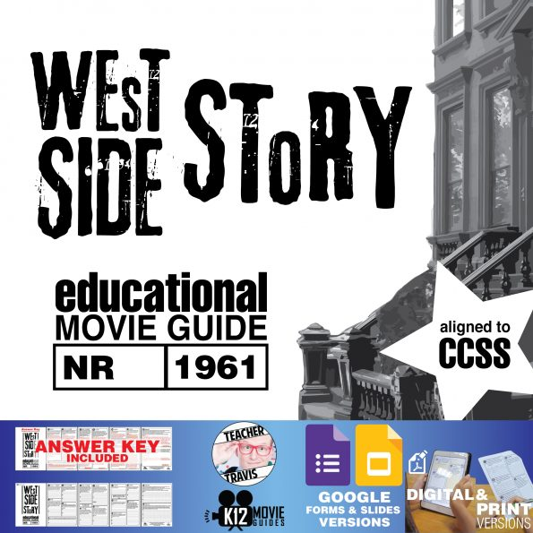 West Side Story Movie Guide | Questions | Worksheet | Google Formats (NR - 1961) Cover