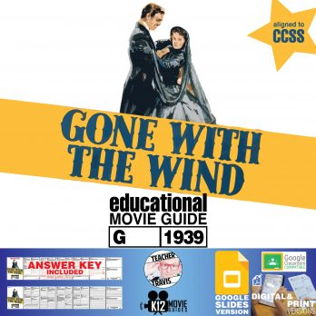 Gone With the Wind Movie Guide | Questions | Worksheet | Google (G - 1939) Cover