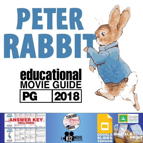 Peter Rabbit Movie Guide   Questions   Worksheet   Google Formats (PG - 2018) Cover