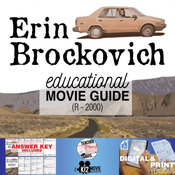 Erin Brockovich Movie Guide | Questions | Worksheet (R - 2000) Cover