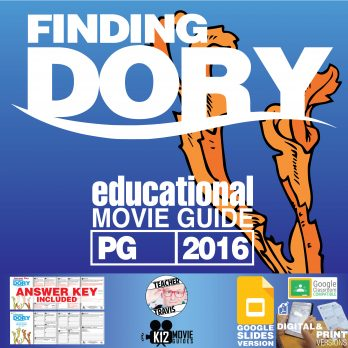 Finding Dory Movie Guide | Questions | Worksheet (PG - 2016) Cover