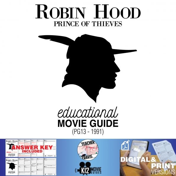 Robin Hood: Prince of Thieves Movie Guide | Questions | Worksheet (PG13 - 1991) Cover