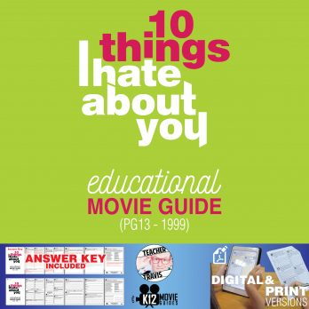 10 Things I Hate About You Movie Guide | Questions | Worksheet (PG13 - 1999) Cover