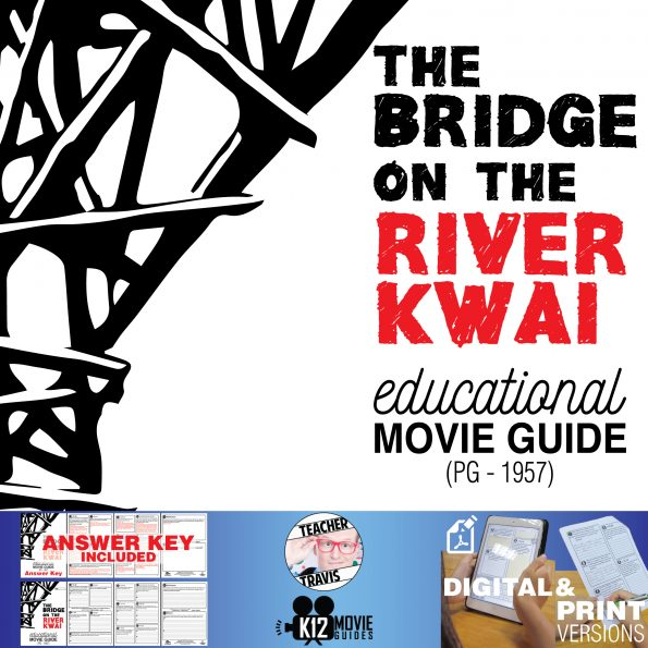 The Bridge on the River Kwai Movie Guide | Questions | Worksheet (PG - 1957) Cover