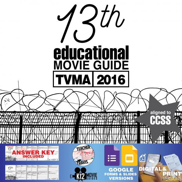 13th Documentary Movie Guide | Questions | Worksheet | Google Form (TVMA - 2016) Cover