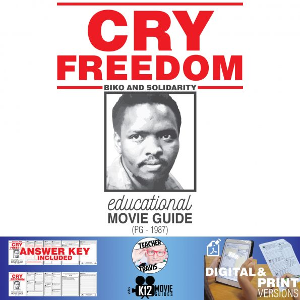 Cry Freedom Movie Guide | Questions | Worksheet (PG - 1987) Cover
