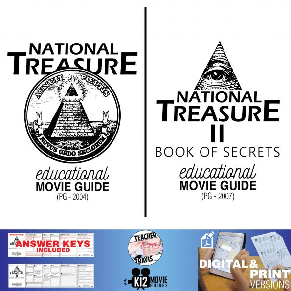 National Treasure I & II Movie Guide Bundle | Questions | Worksheet