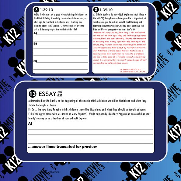 Mary Poppins Movie Guide   Questions   Worksheet   Google Forms (G - 1964) Free Sample