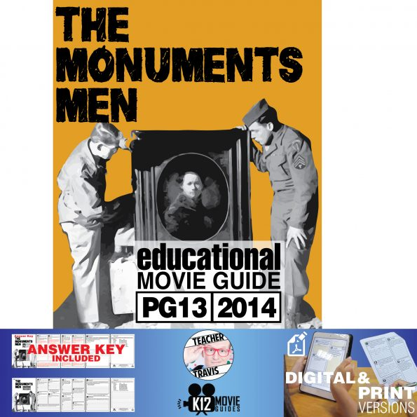 The Monuments Men Movie Guide | Questions | Worksheet (PG13 - 2014) Cover