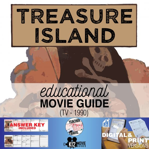Treasure Island Movie Guide | Questions | Worksheet (TV - 1990) Cover