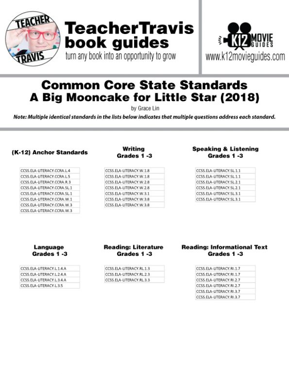 A Big Mooncake for Little Star Book Read Aloud Book Guide | Questions | Google | CCSS Alignment