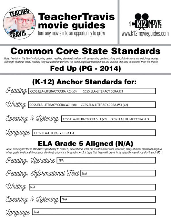 Fed Up Documentary Movie Guide | Questions | Worksheet | Google Form (PG - 2014) CCSS Alignment