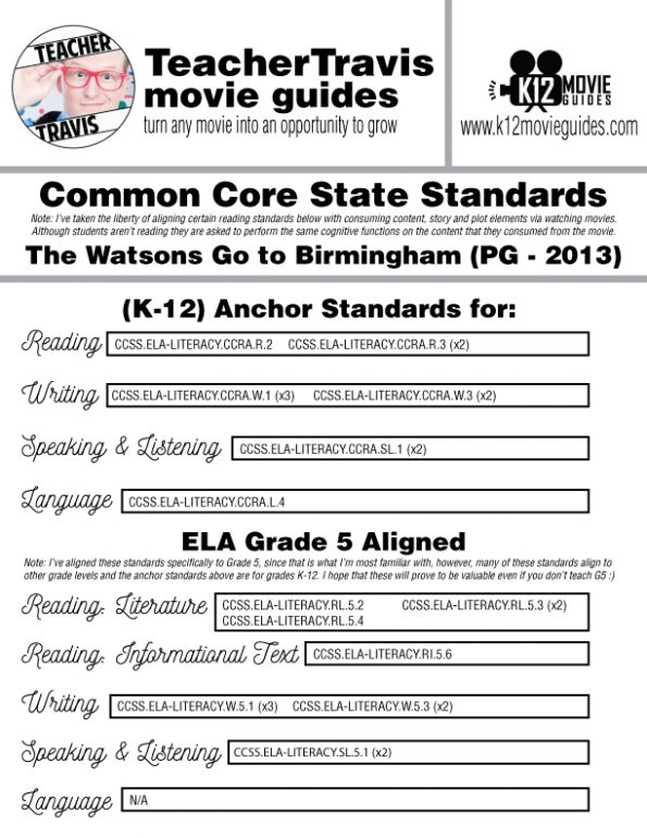 The Watsons Go to Birmingham Movie Guide | Questions | Google Form (PG - 2013) CCSS