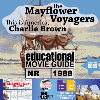 Charlie Brown - The Mayflower Voyagers Movie Guide   Worksheet (1988) Cover