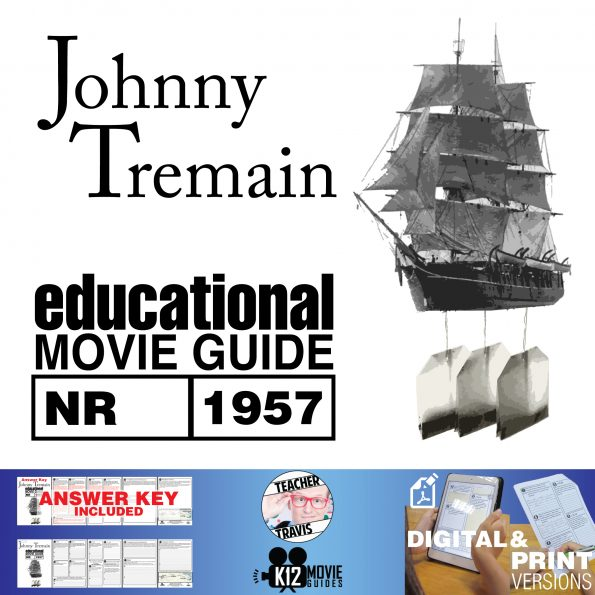 Johnny Tremain Movie Guide | Questions | Worksheet (NR - 1957) Cover