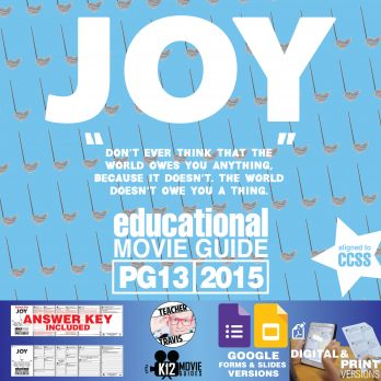Joy Movie Guide | Questions | Worksheet (PG13 - 2015) Cover