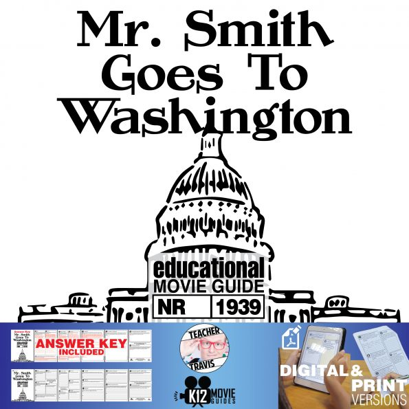 Mr. Smith Goes to Washington Movie Guide | Questions | Worksheet (1939) Cover