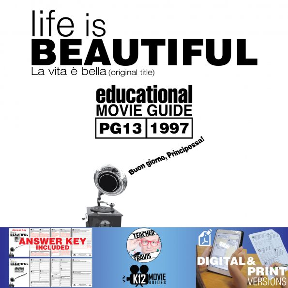 Life is Beautiful Movie Guide | Questions | Worksheet (PG13 - 1997) Cover