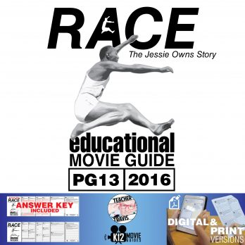 Race (Jessie Owens Story) Movie Guide | Questions | Worksheet (PG13 - 2016) Cover