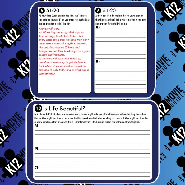Life is Beautiful Movie Guide   Questions   Worksheet (PG13 - 1997) Sample