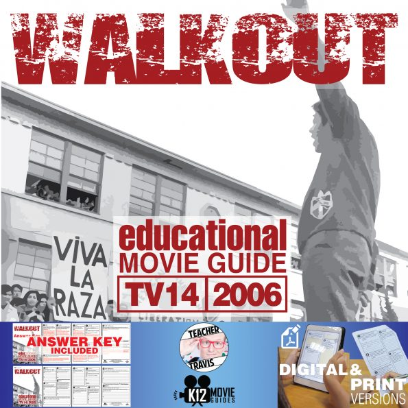 Walkout Movie Guide | Questions | Worksheet (TV14 - 2006) Cover