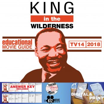 King in the Wilderness Movie Guide | Questions | Worksheet (TV14 - 2018) Cover