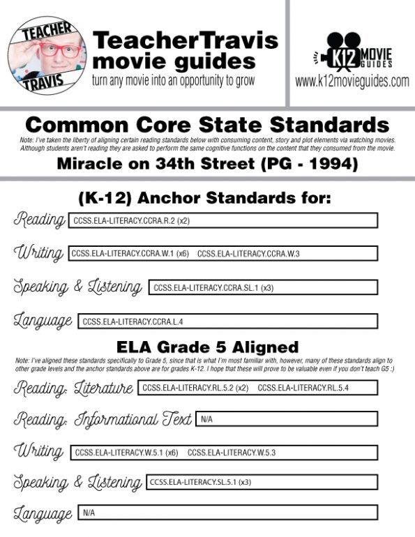 Miracle on 34th Street Movie Guide | Questions | Worksheet | Google (PG - 1994) CCSS