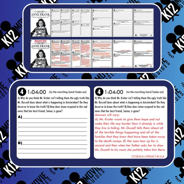 The Diary of Anne Frank Movie Guide | Questions | Worksheet (NR - 1959) Free Sample