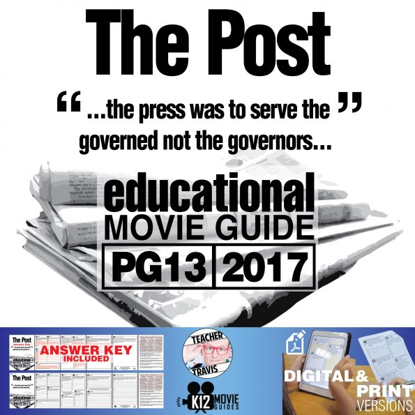The Post Movie Guide   Questions   Worksheet (PG13 - 2017) Cover