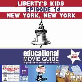 Liberty's Kids | New York, New York Episode 14 (E14) - Movie Guide | Worksheet Cover