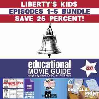 Liberty's Kids - BUNDLE - Episodes 1 - 5 Movie Guide | Worksheet