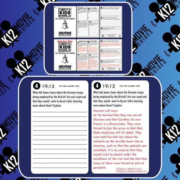 Liberty's Kids | The Hessians are Coming Episode (E23) - Movie Guide | Worksheet Free Sample