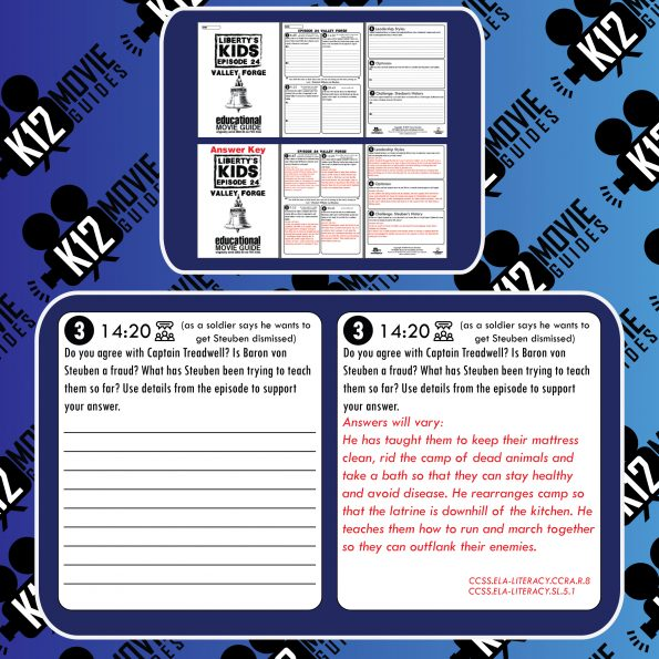 Liberty's Kids | Valley Forge Episode 24 (E24) - Movie Guide | Worksheet Free Sample