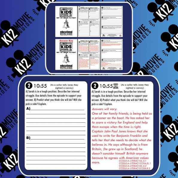 Liberty's Kids | Not Yet Begun to Fight Episode (E28) - Movie Guide | Worksheet Free Sample