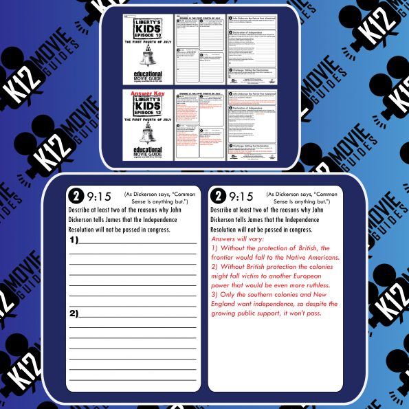 Liberty's Kids | The First Fourth of July Episode E13 - Movie Guide | Worksheet Free Sample