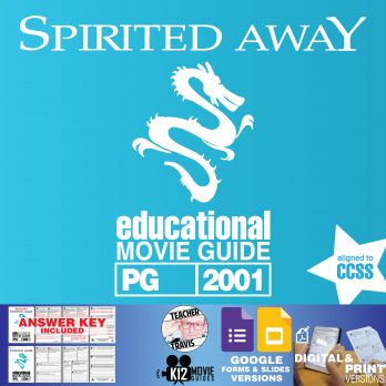 Spirited Away Movie Guide | Questions | Worksheet | Google Classroom (PG - 2001) Cover