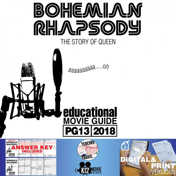 Bohemian Rhapsody Movie Guide | Questions | Worksheet (PG13 - 2018) Cover