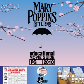 Mary Poppins Returns Movie Guide | Questions | Worksheet (PG - 2018) Cover
