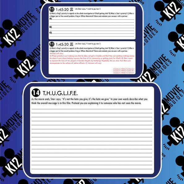 The Hate U Give Movie Guide | Worksheet (PG13 - 2018) Free Questions