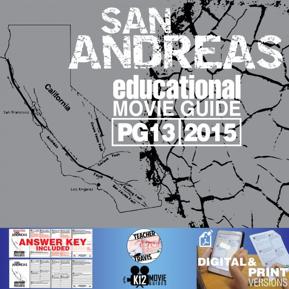 San Andreas Movie Guide | Questions | Worksheet (PG13 - 2015) Cover