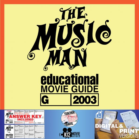 The Music Man Movie Guide | Questions | Worksheet (G - 2003) Cover