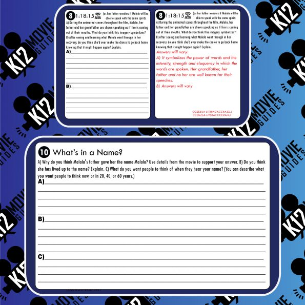 He Named Me Malala Movie Guide | Questions | Worksheet (PG13 - 2015) Free Sample