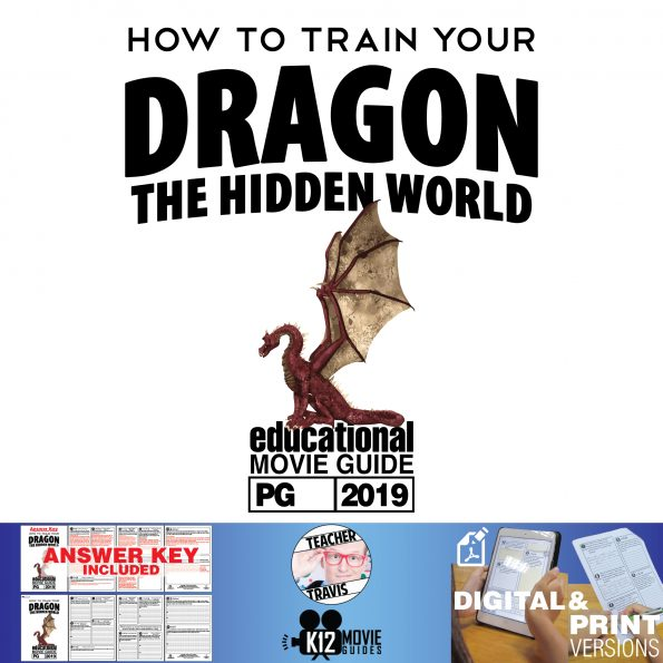 How to Train Your Dragon 3: The Hidden World Movie Guide | Questions | Worksheet (PG - 2019) Cover