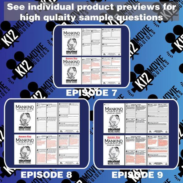 Mankind the Story of All of Us - (E07 - E12) Bundled Movie Guides SAVE 35% Free Sample