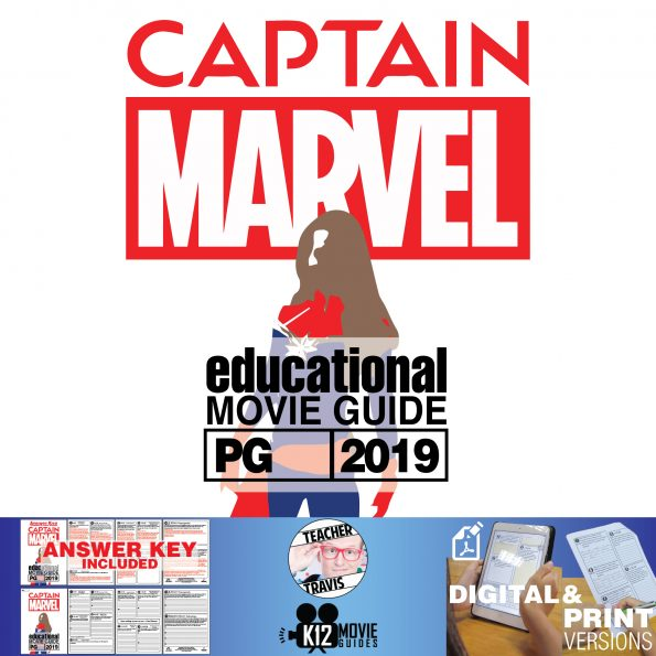 Captain Marvel Movie Guide | Questions | Worksheet (PG13 - 2019) Cover