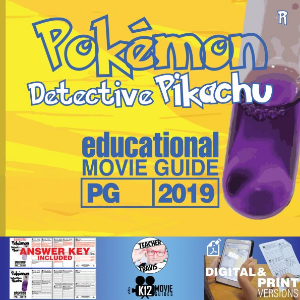 Pokémon Detective Pikachu Movie Guide | Questions | Worksheet (PG - 2019) Cover
