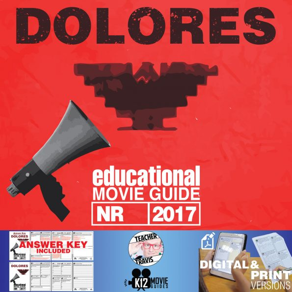 Dolores Documentary Movie Guide | Questions | Worksheet (NR - 2017) Cover