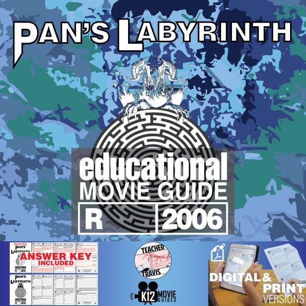 Pan's Labyrinth Movie Guide | Questions | Worksheet (R - 2006) Cover