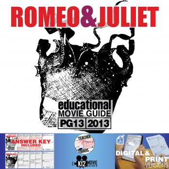 Romeo and Juliet Movie Guide | Questions | Worksheet (PG13 - 2013) Cover