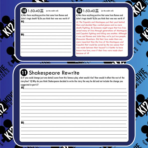 Romeo and Juliet Movie Guide | Questions | Worksheet (PG13 - 2013) Free Sample
